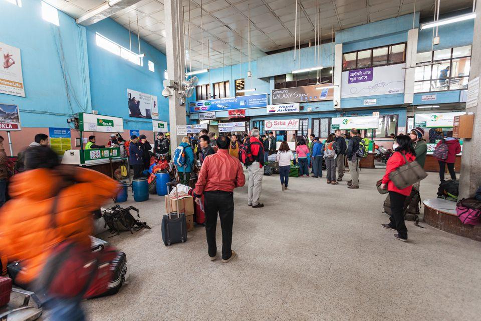 Interior of Kathmandu's Tribhuvan International Airport