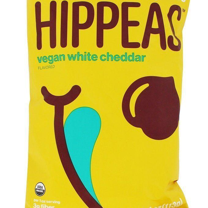 Hojaldres de garbanzos orgánicos HIPPEAS + Cheddar blanco vegano