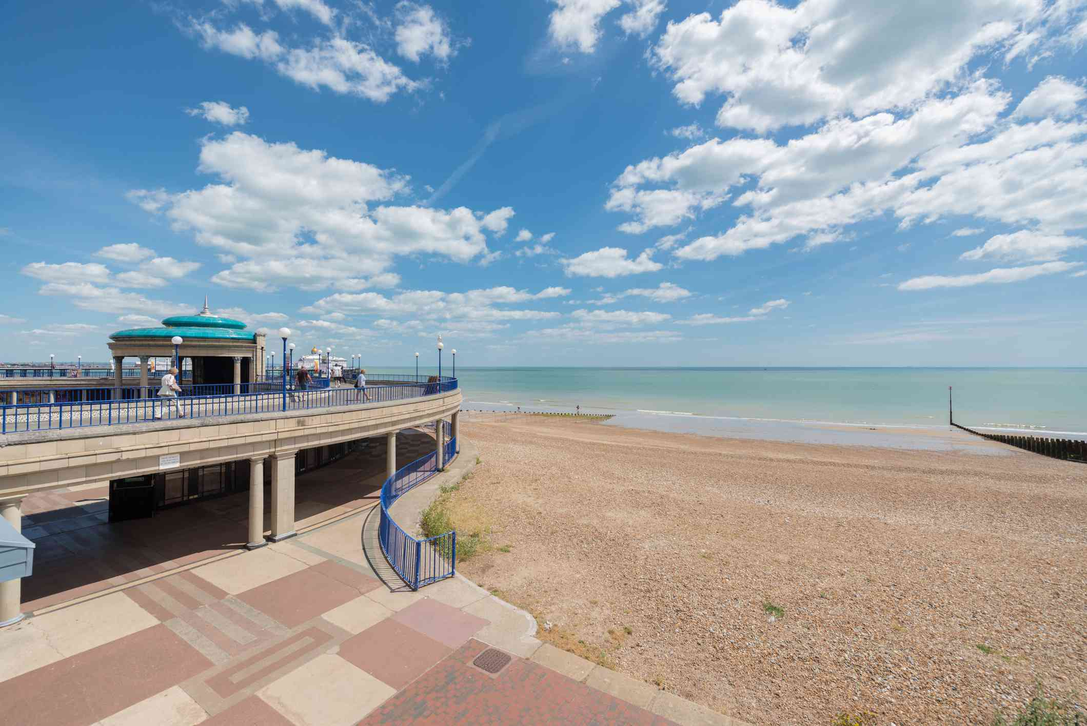 View of the Beach, Bandstand and Promenade, Eastbourne