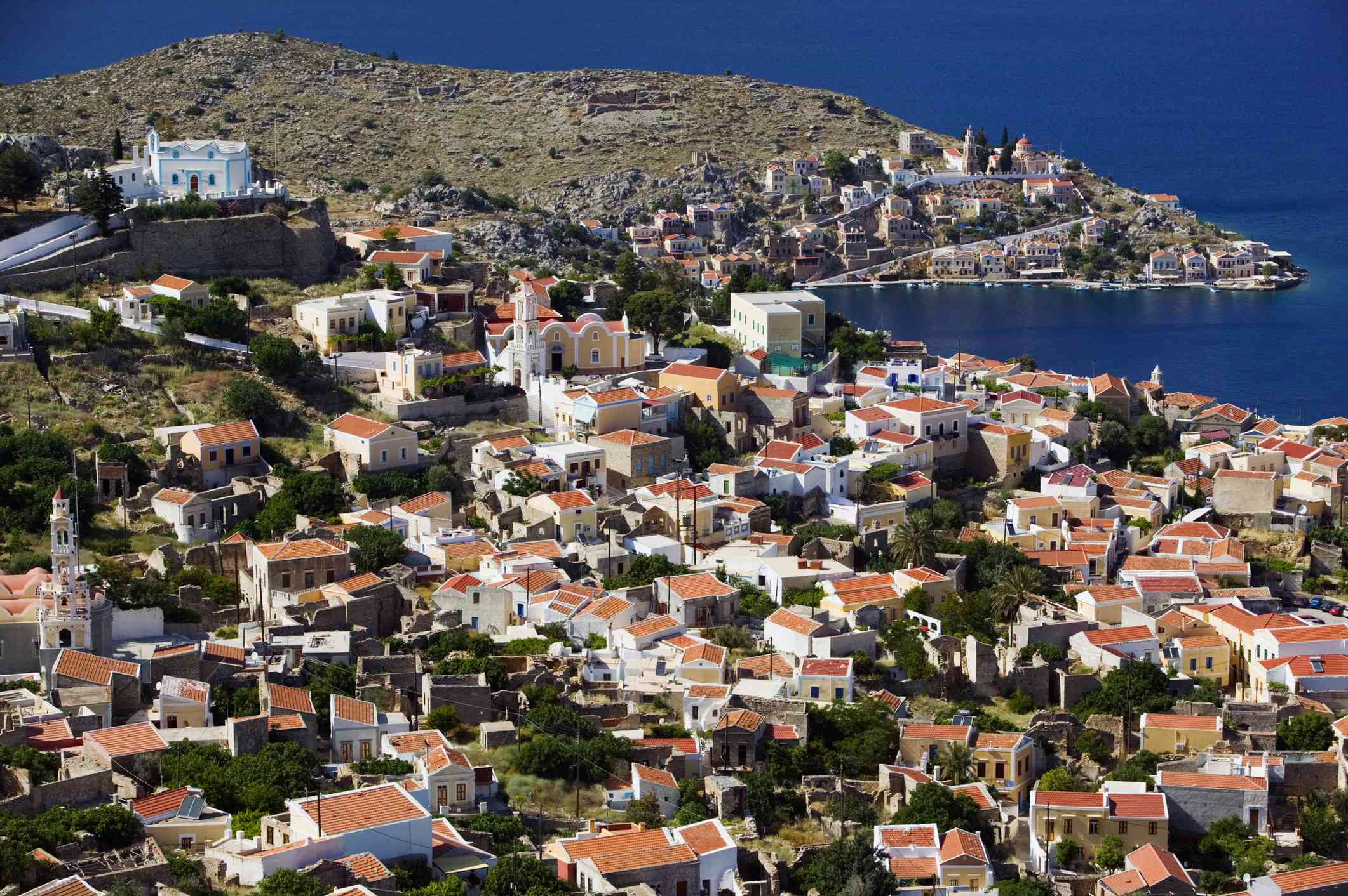 View of Horio, Upper Town, Late Afternoon, Greece