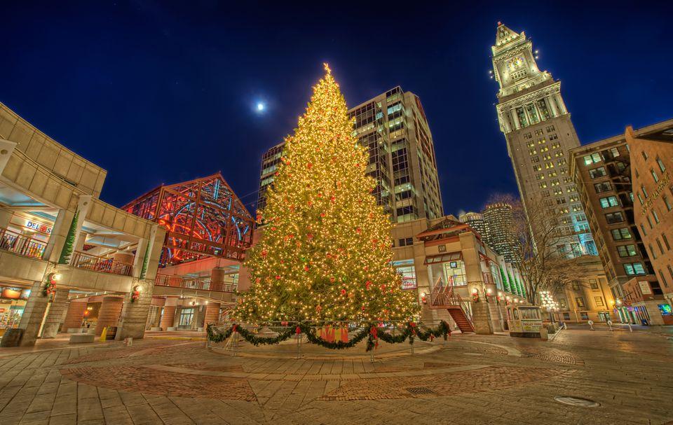 Navidad en el Faneuil Hall Marketplace de Boston