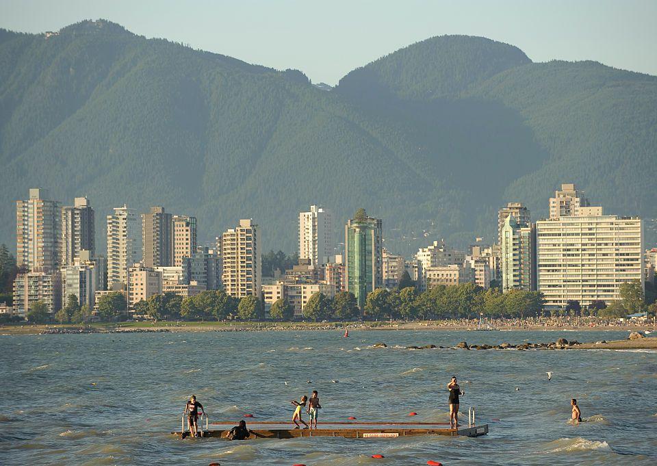 Kitsilano Beach in Vancouver, BC