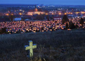 All Saints Day in Pinczow, Poland