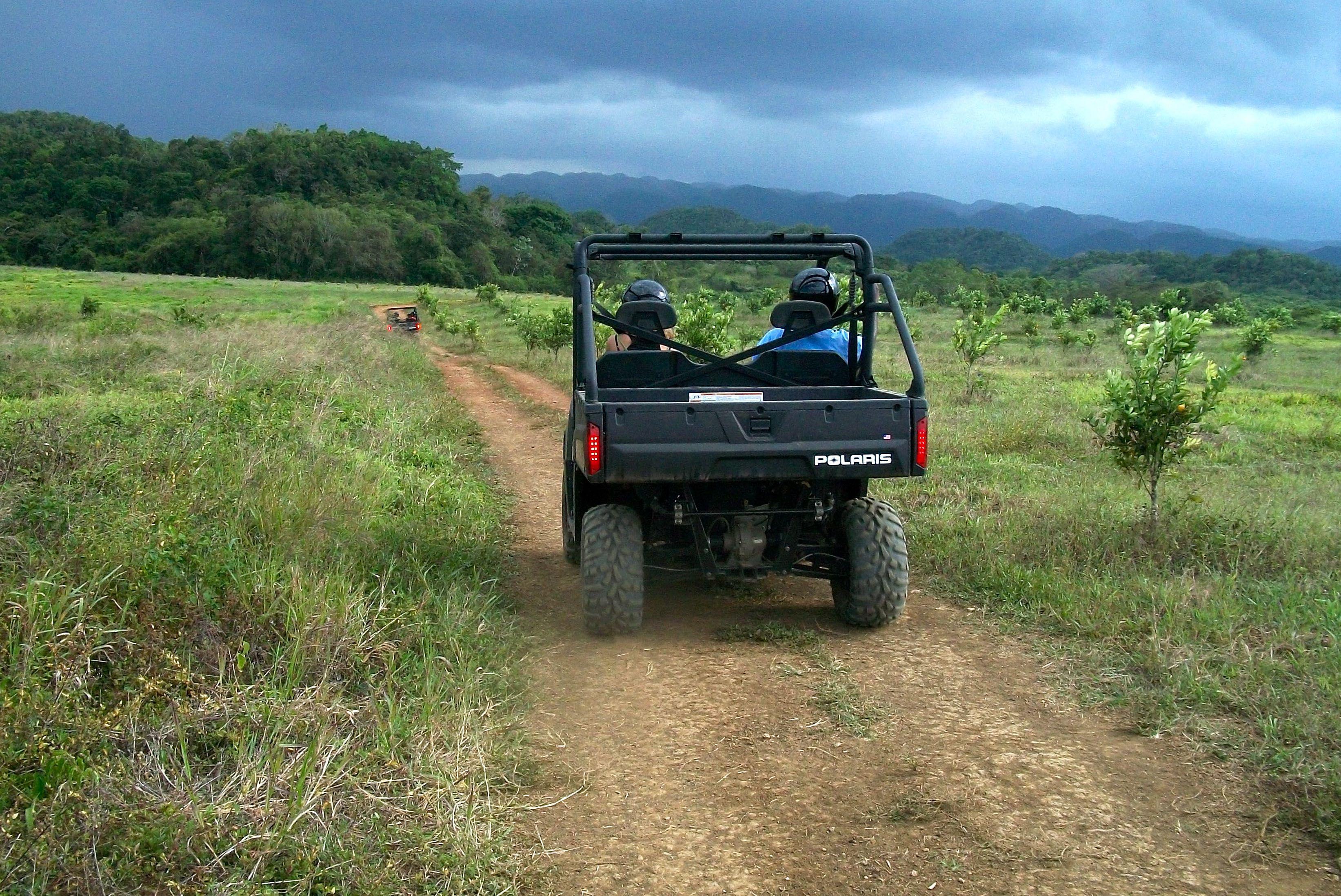 Four-wheeling at Good Hope Plantation, Jamaica