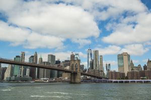 View of NYC from the East River Ferry