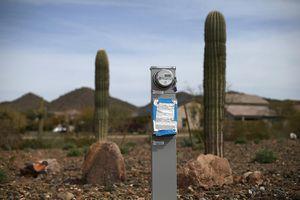 Electric meter in Phoenix, AZ