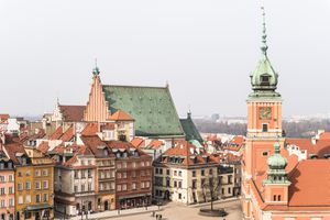 Aerial view of warsaw, poland
