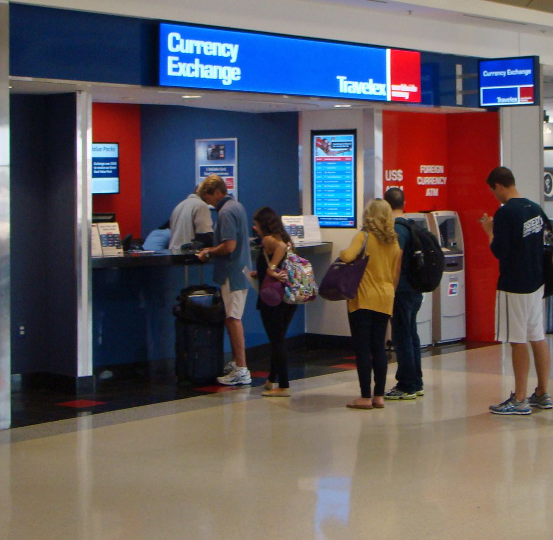 It's wise to avoid airport currency exchanges.