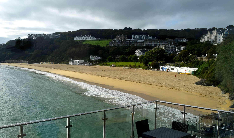 Cornish golden sand beach