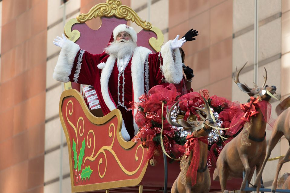 Santa at Christmas parade