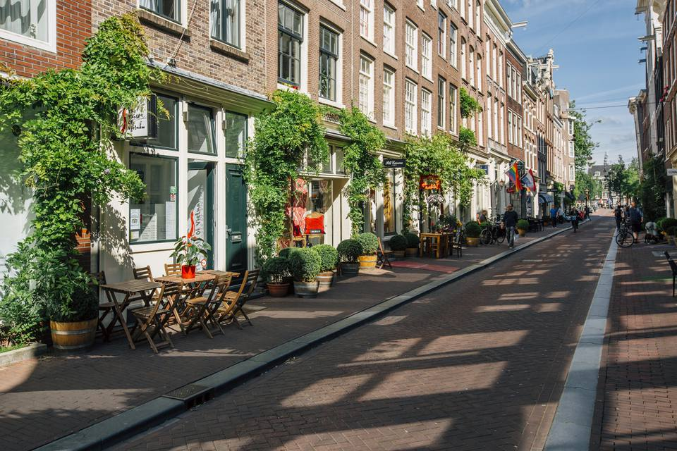 Shopping area around Prinsenstraat and Herenstraat in Amsterdam