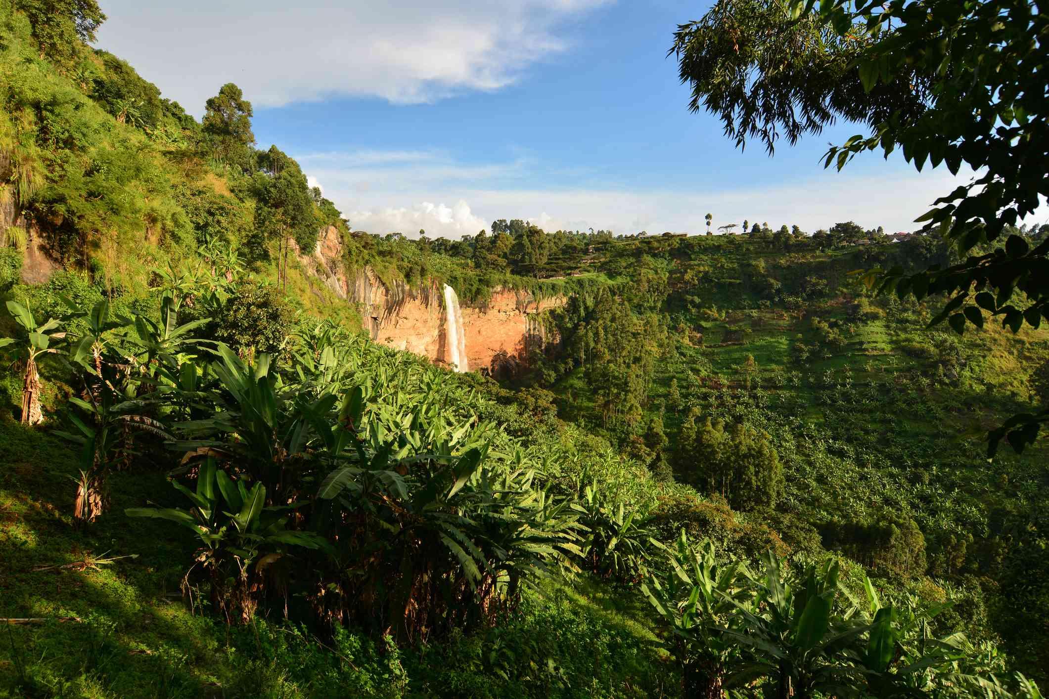 Waterfall in Mount Elgon National Park, Uganda