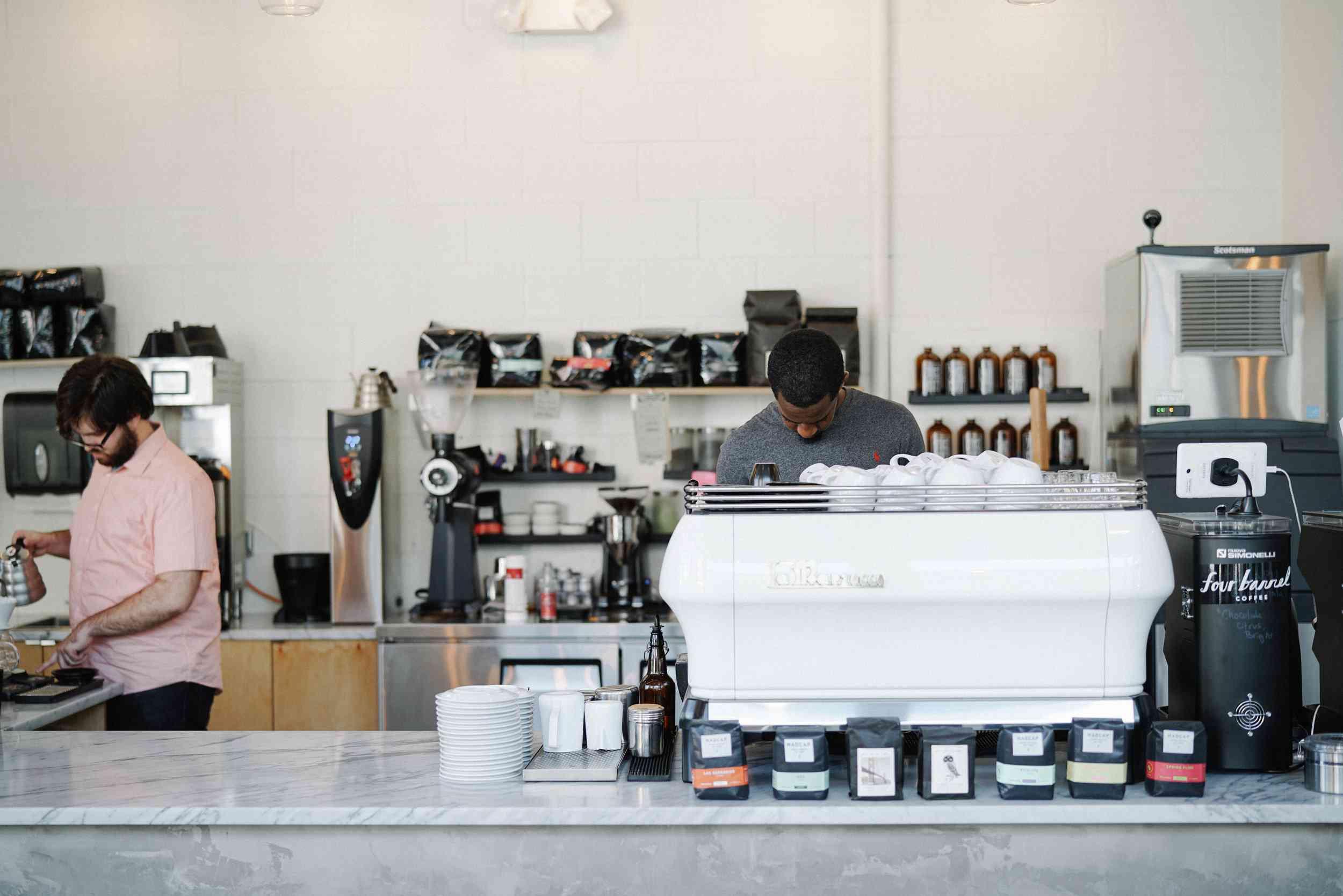 vice city cafe baristas working, miami