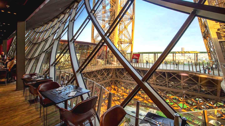 58 Tour Eiffel, un restaurante de la Torre Eiffel en el primer nivel