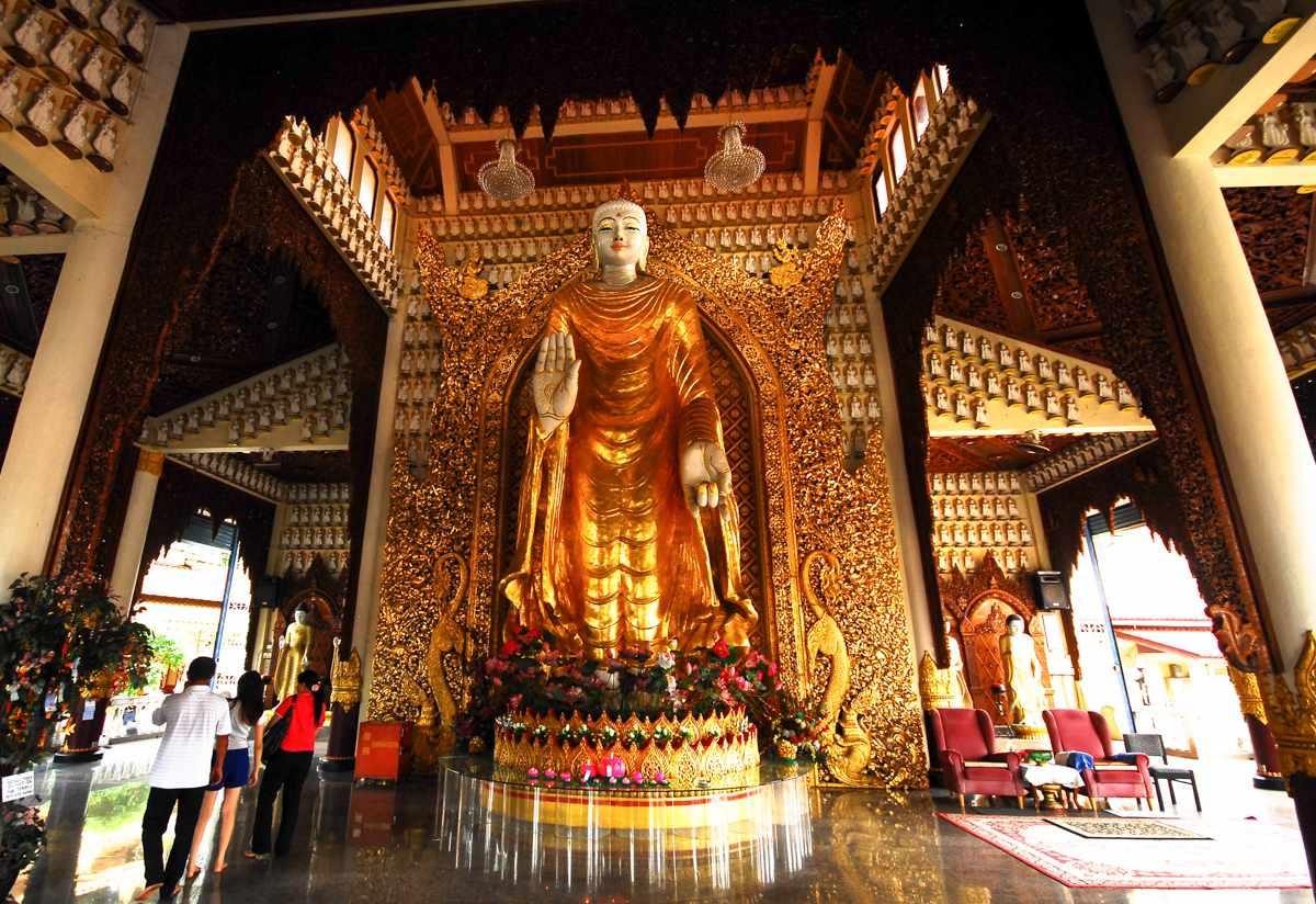 A golden shrine in Penang