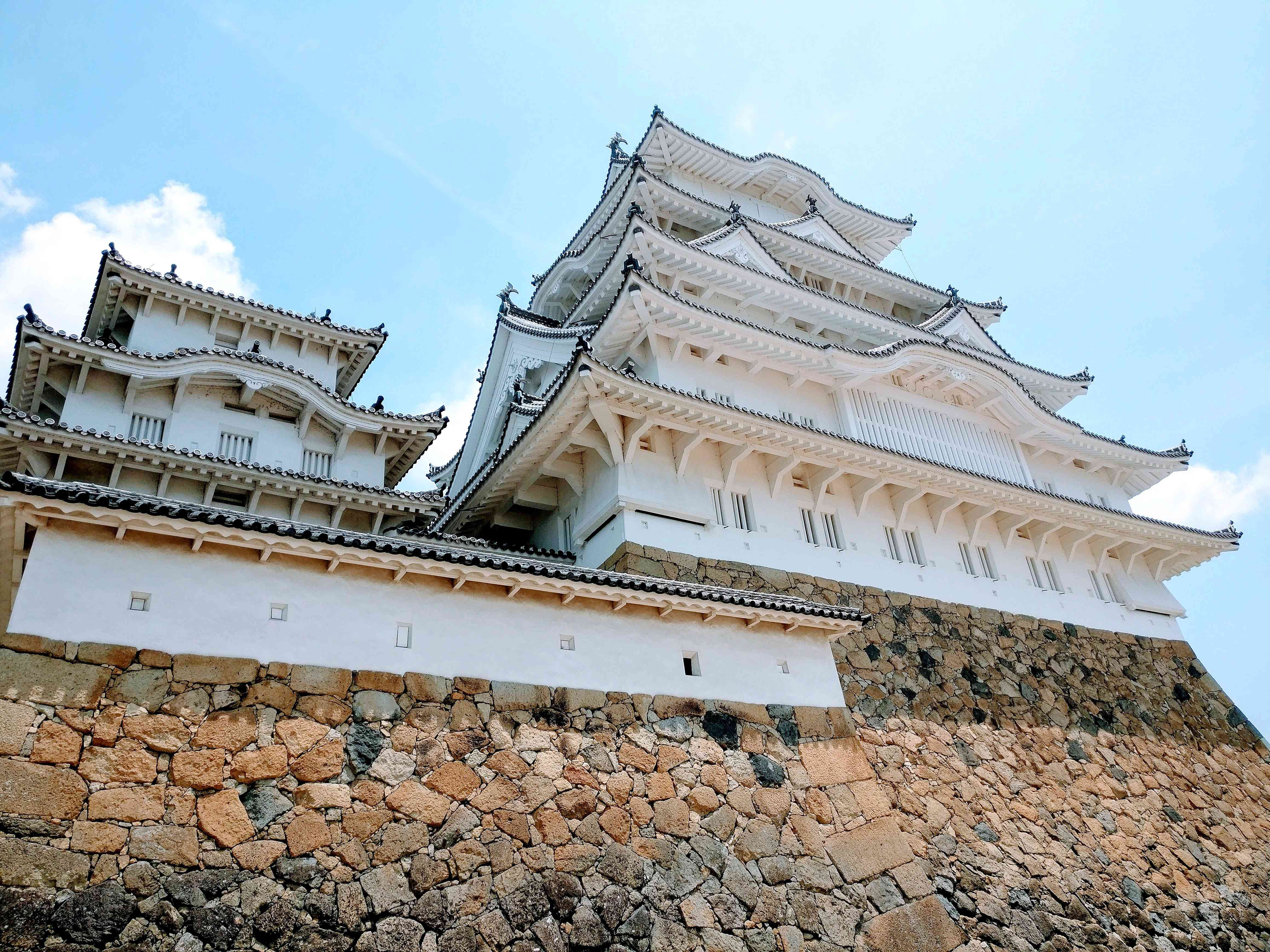 Low Angle View Of Himeji-Jo Castle Against Sky