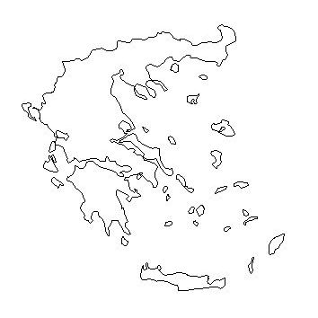Map of Greece - a Basic Map of Greece and the Greek Isles Blank Map Of Athens on blank map ohio, physical map of athens, blank map pa, blank map rome, blank map greece, blank map georgia,