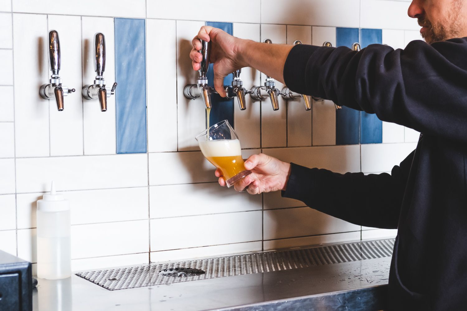 The taps at Kings County Brewers Collective