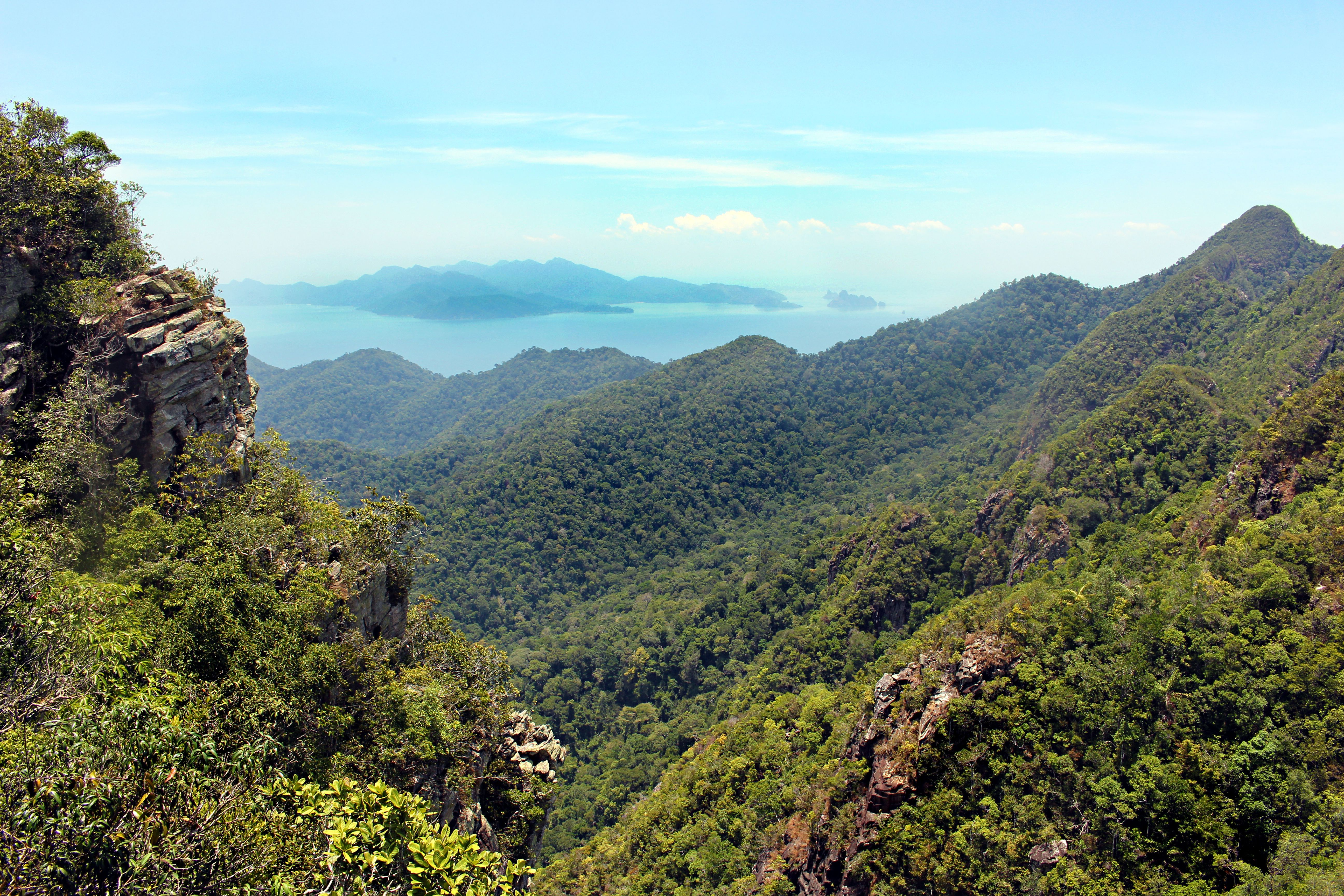 Green mountains and distant coast in Langkawi