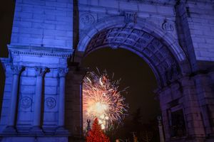 New Years At Grand Army Plaza in Brooklyn