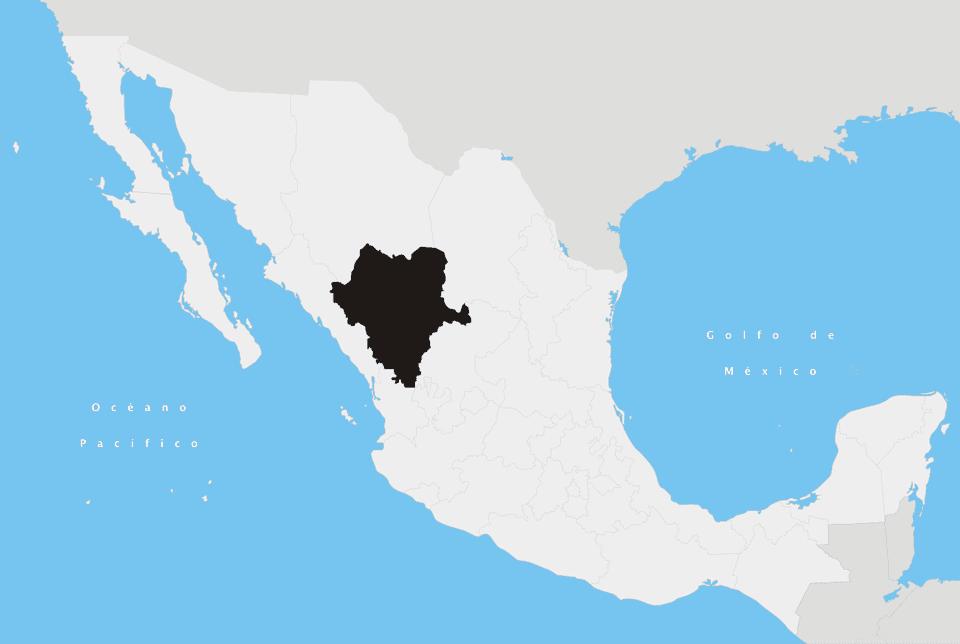 Durango State in Mexico