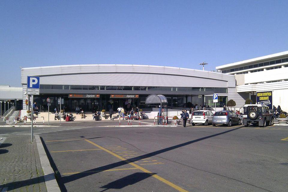 Exterior of Rome Ciampino Airport