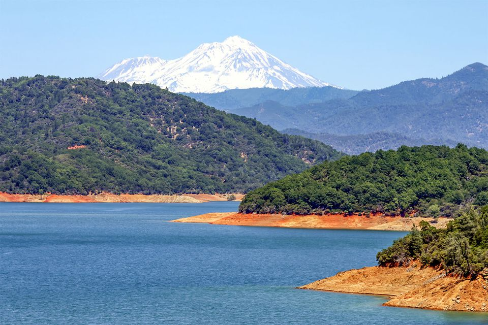 Lake Shasta and Mount Shasta