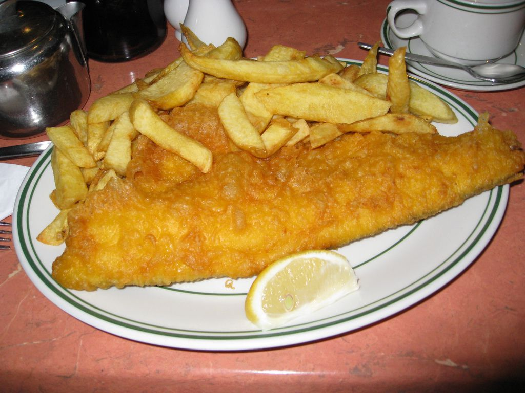 Fish and chips at Master's Superfish in London