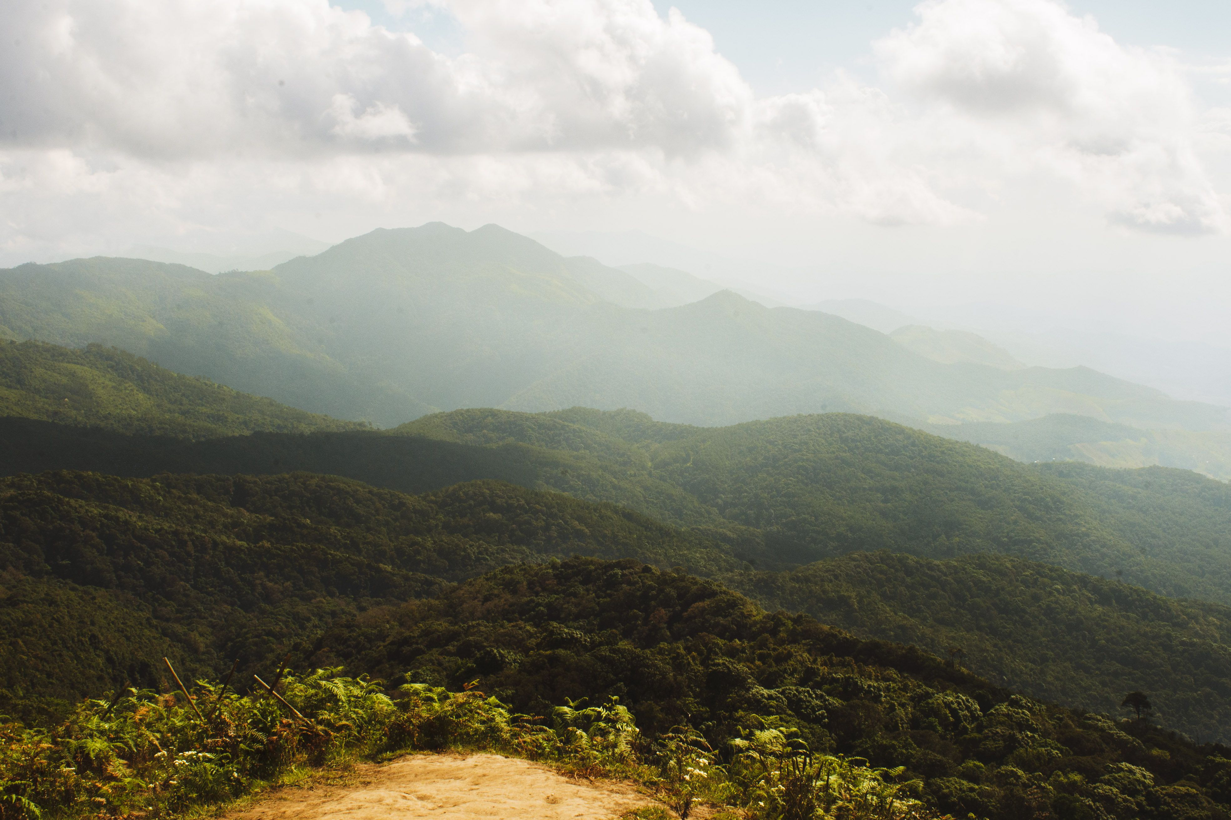 The view from Doi Inthanon of the surrounding mountains