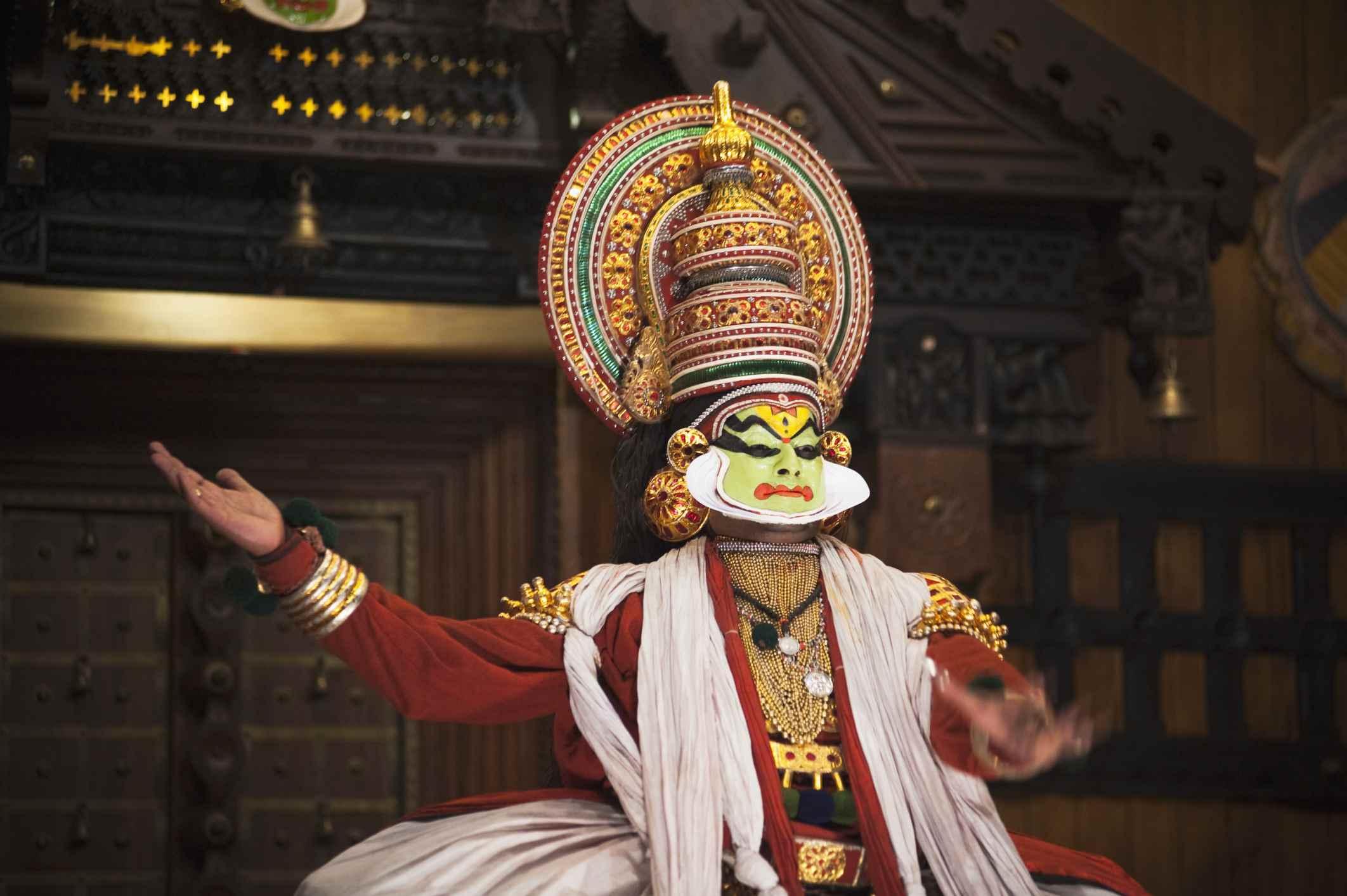 Kathakali performance, Kerala.
