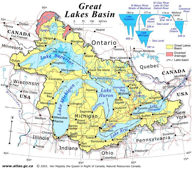 Map Of Canada 5 Great Lakes.Plan Your Trip With These 20 Maps Of Canada