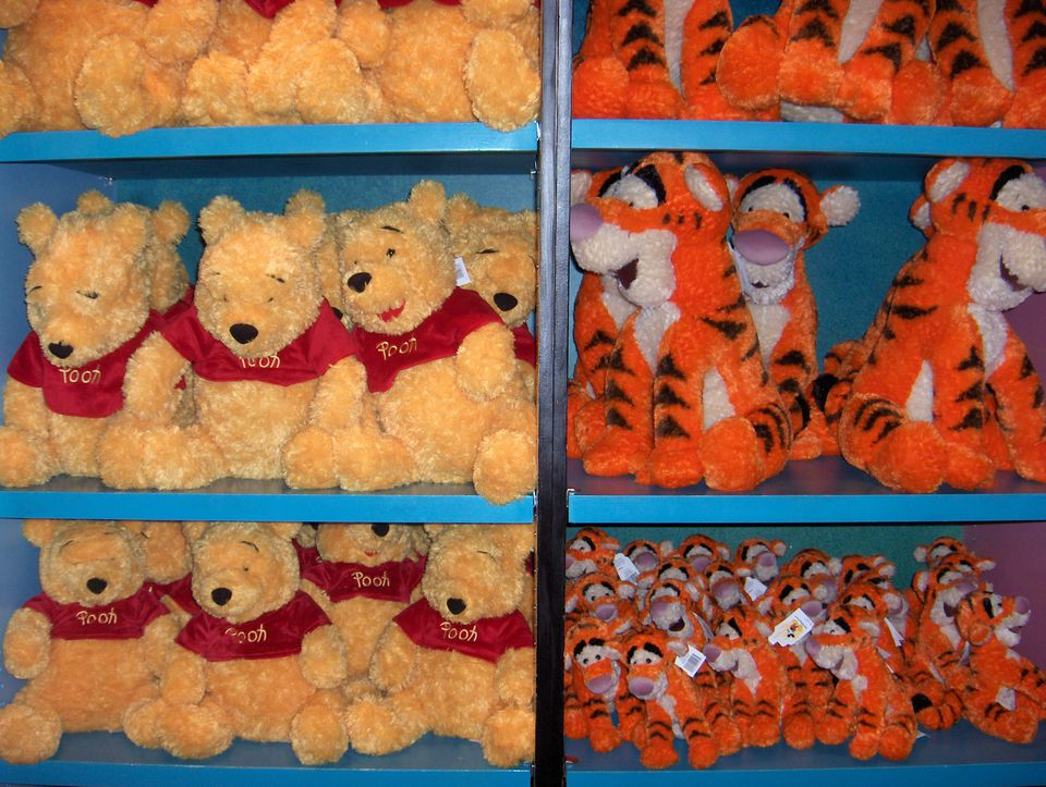 Winnie the Pooh and Tigger stuffed animals