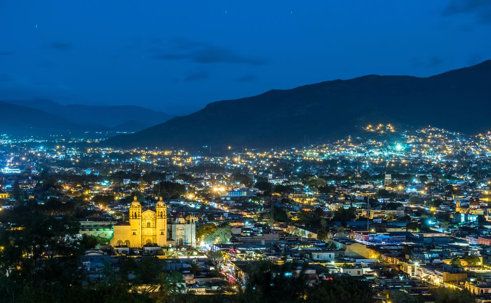 Historic centre of Oaxaca city with its landmark Santo Domingo church, Mexico (part of Unesco world heritage site).