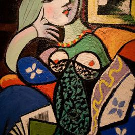 """Picasso's """"Woman with a Book"""""""