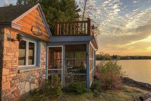 Rustin cabin on Cedar Birch Island