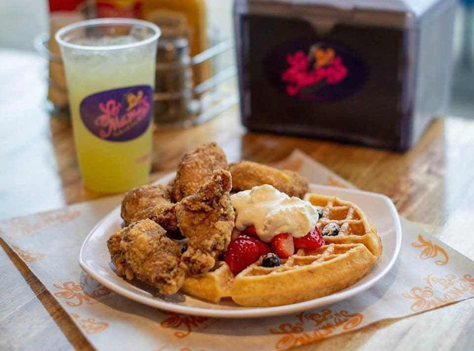 Yo Mama's chicken and waffle