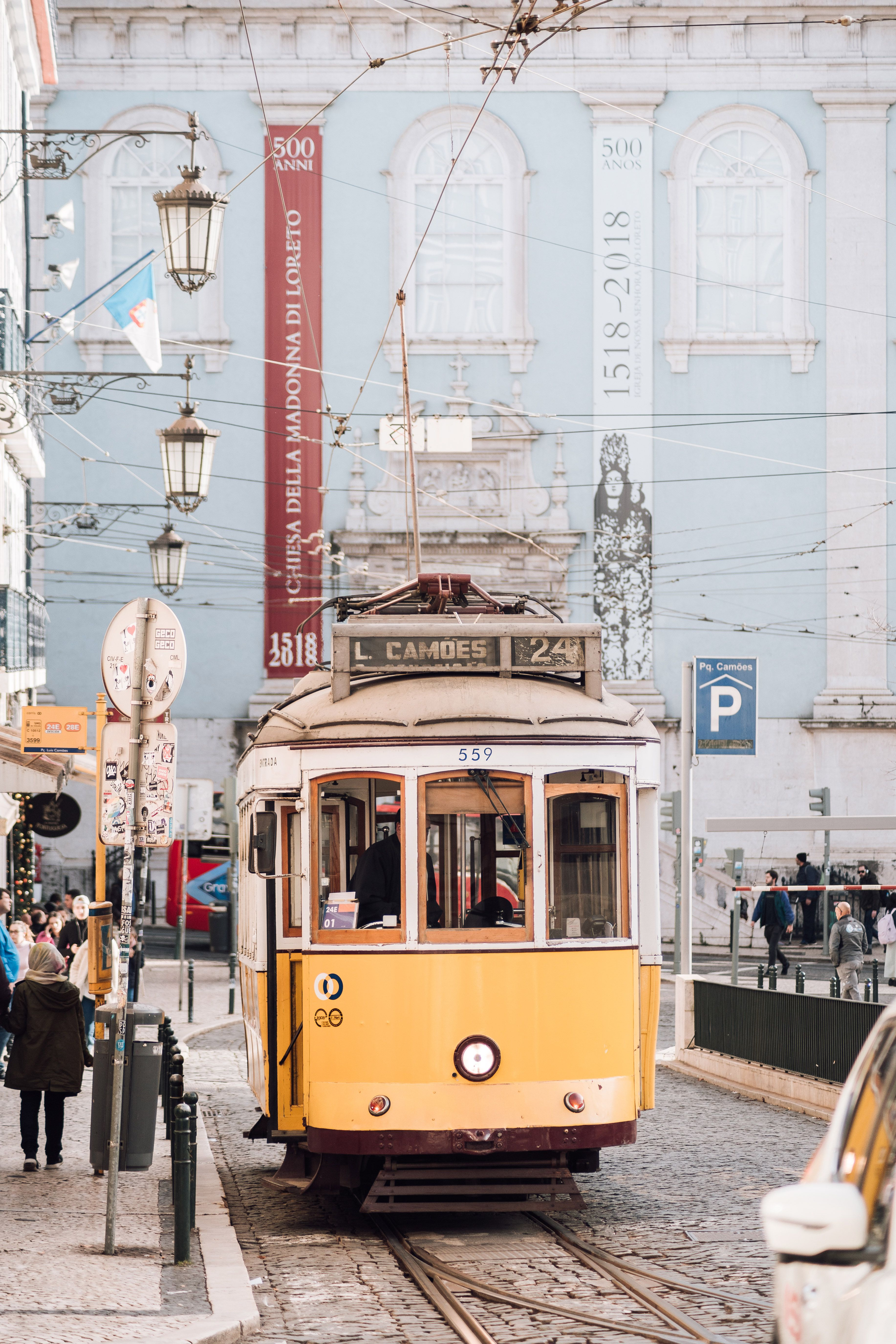 The tram in Lisbon