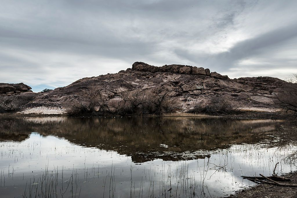 One of the large tanks in Hueco Tanks State Park Historic Site
