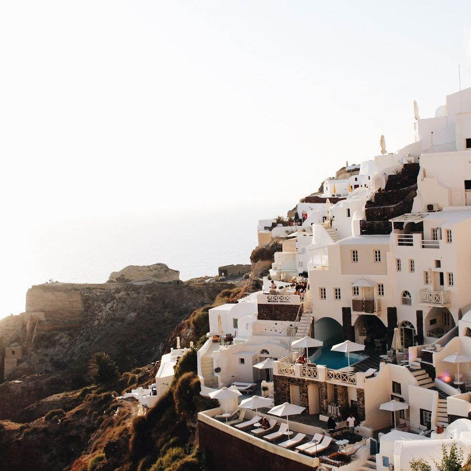 Cliff sides of Santorini