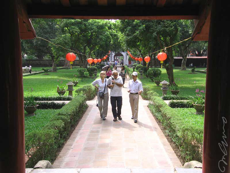 View from the Great Middle Gate, Temple of Literature, Hanoi