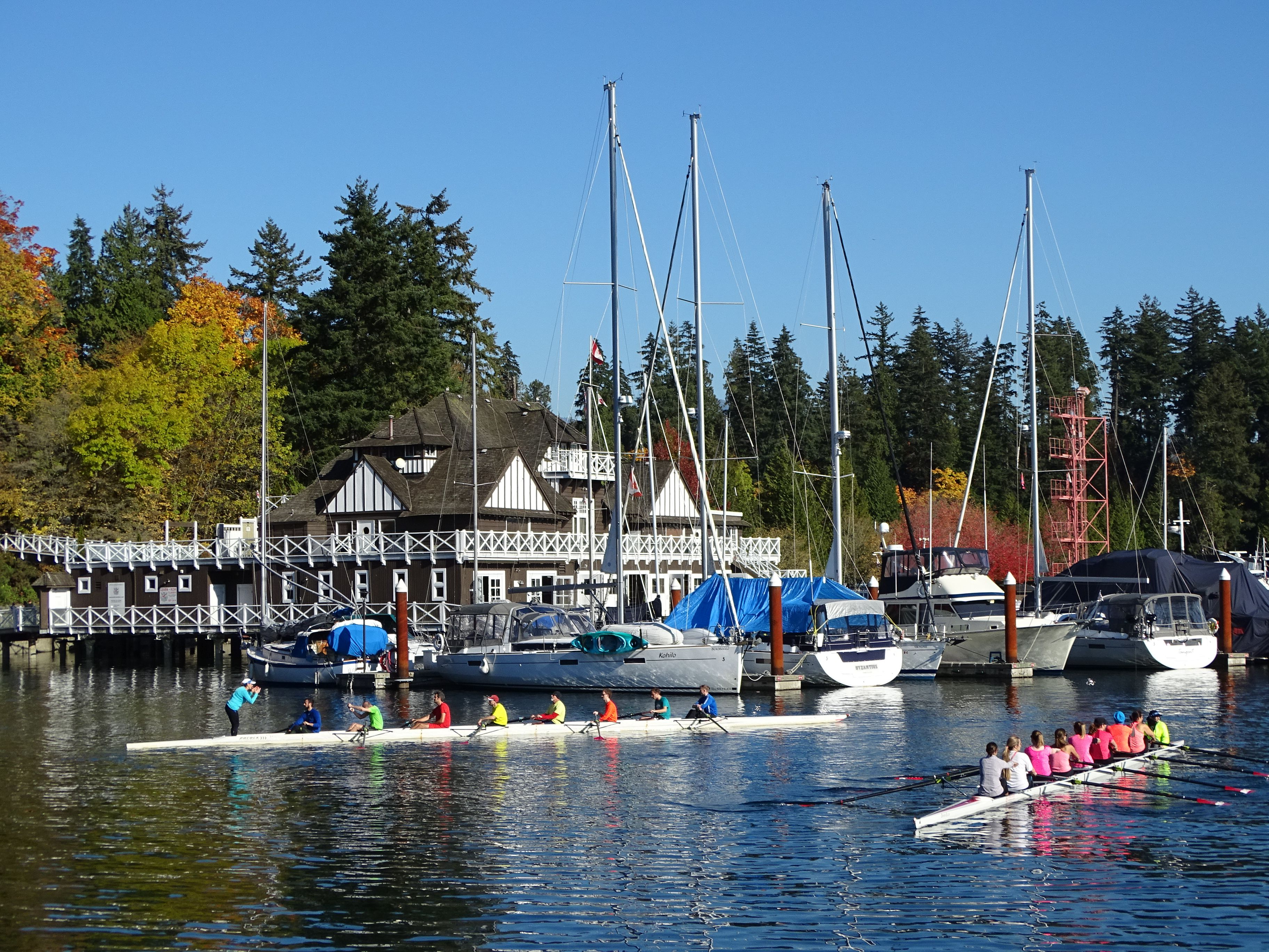 Stanley Park (Inner Harbor) Scene in Vancouver.