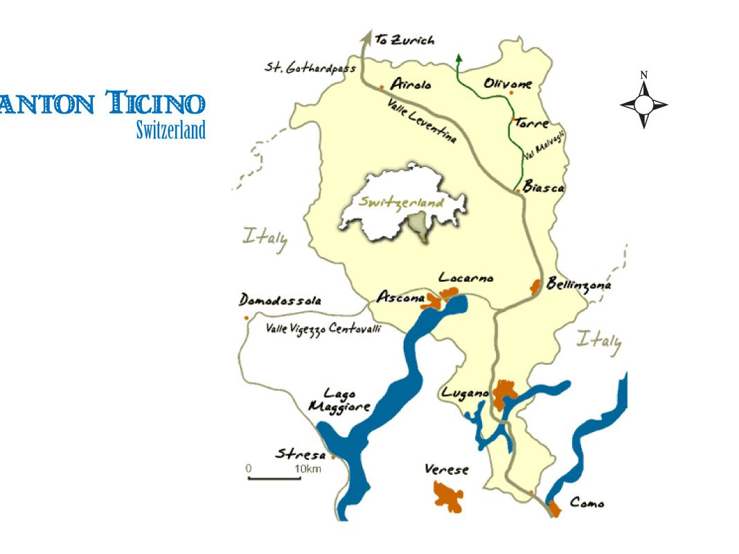 Picture of: Ticino Switzerland Map And Travel Guide