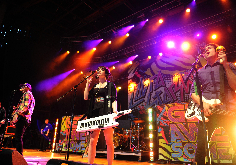 Cobra Starship perform live in concert at Merriweather Post Pavilion