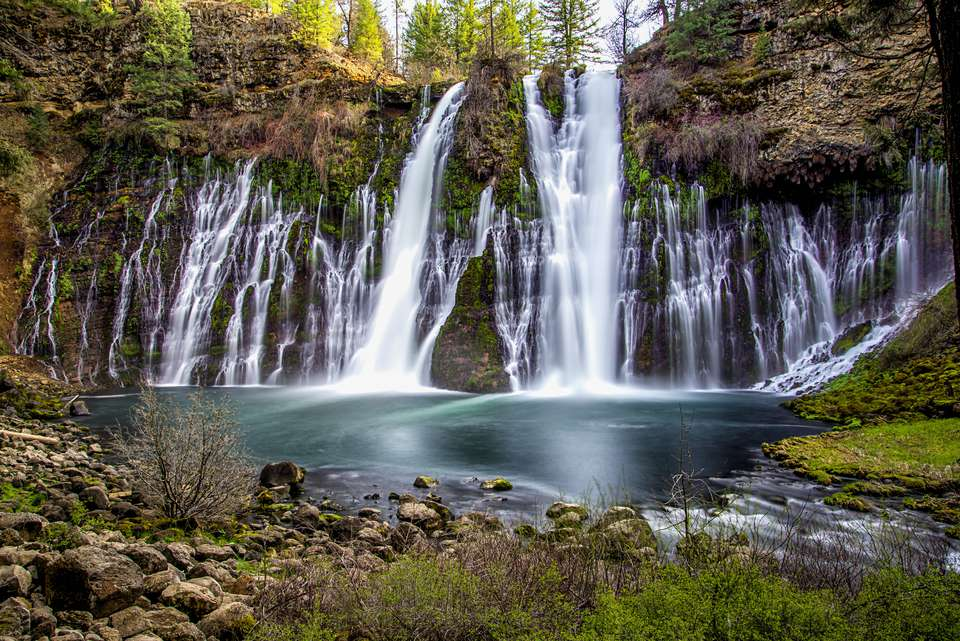 Burney falls at McArthur-Burney State Park in California.