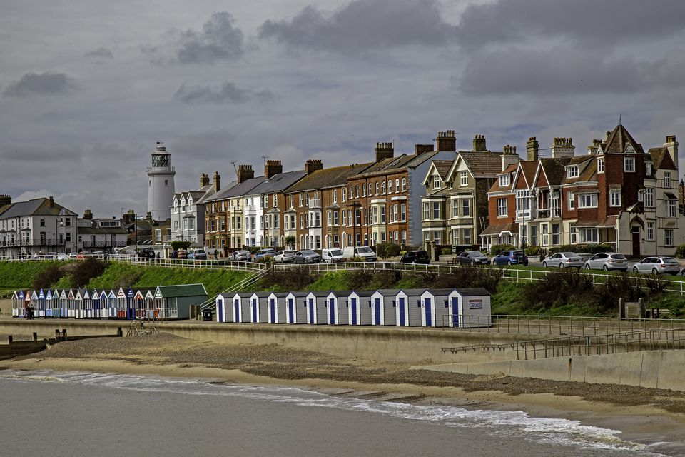 The beach in Suffolk, England