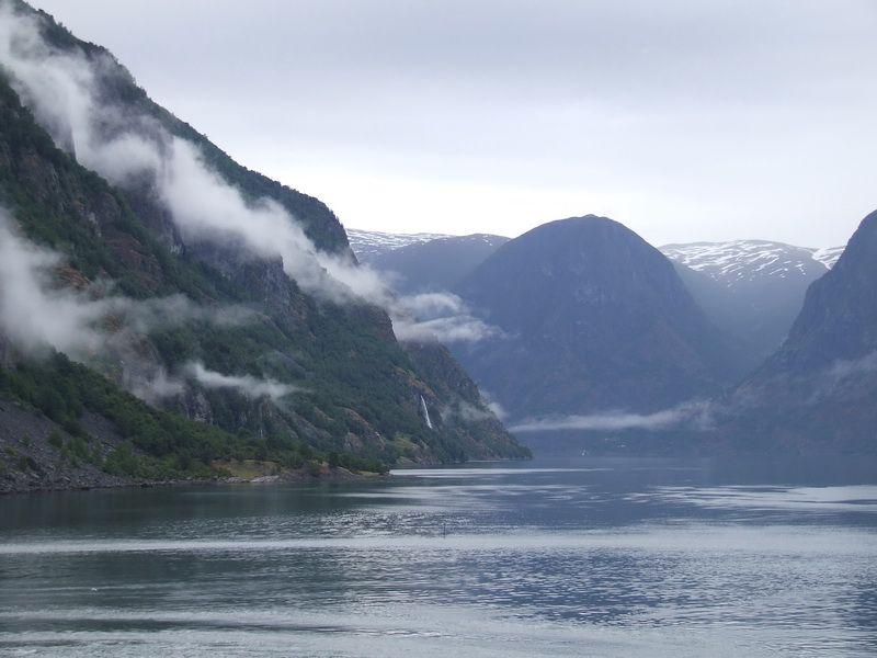 Norwegian Fjords - Aurlandsfjord near Flam, Norway