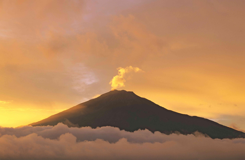 Mount Kerinci in West Sumatra