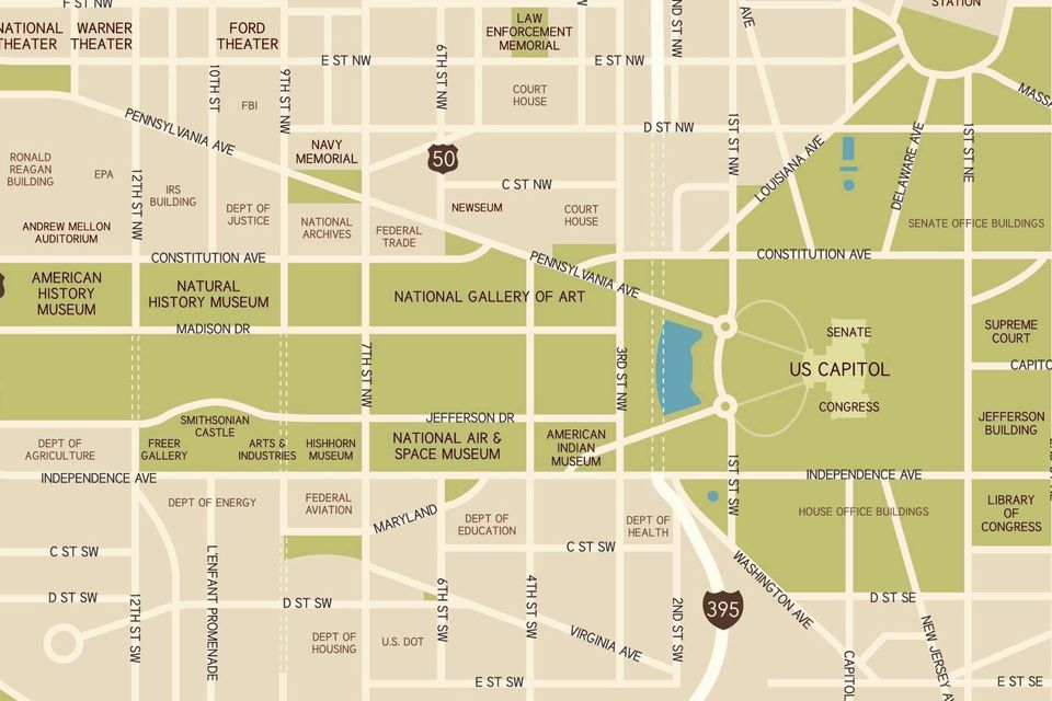 Washington D C National Mall Maps Directions and Information