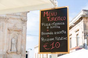 Tourist Menu in Puglia, Italy
