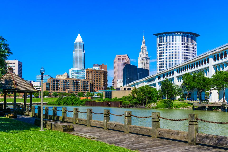 Downtown Cleveland Ohio Skyline (P)